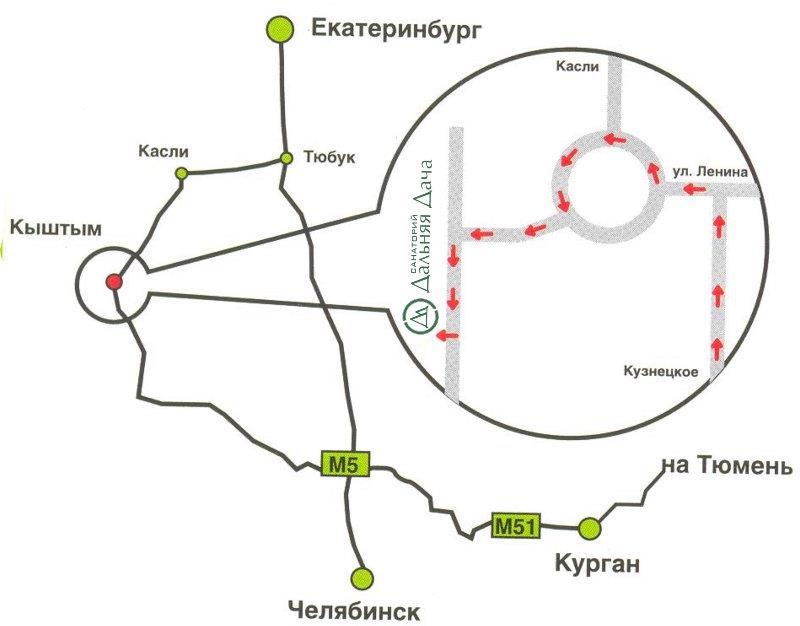 Схема проезда: с Южного